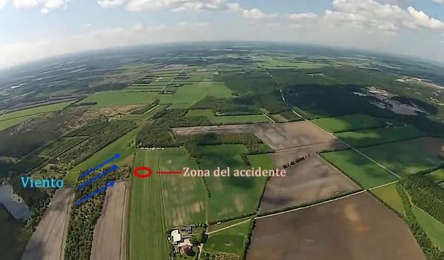 Accidente aterrizando en parapente / análisis técnico.