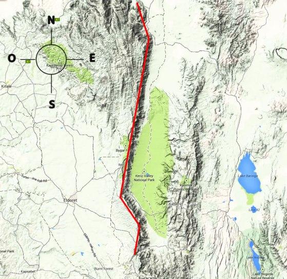 Mapa del Valle Kerio